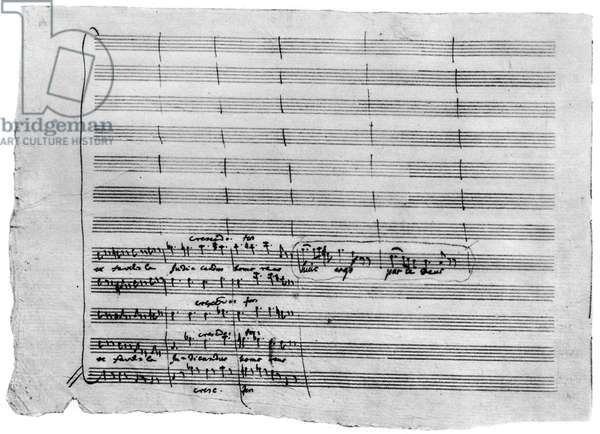 Autograph manuscript of 'Requiem', 1791 (pen & ink on paper)