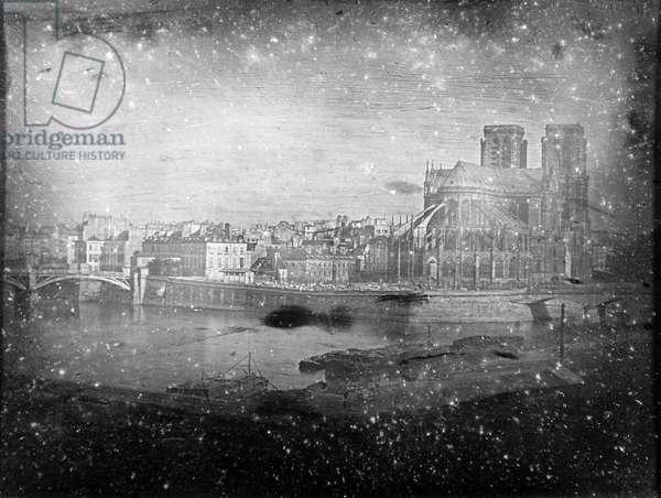 PARIS: NOTRE DAME, c.1838 (b/w photo)