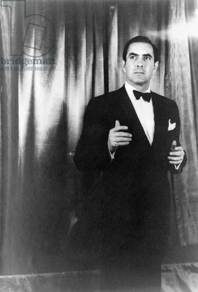 TYRONE POWER (1914-1958) American actor. Photographed by Carl Van Vechten while performing 'John Brown's Body' on Broadway, 1953.