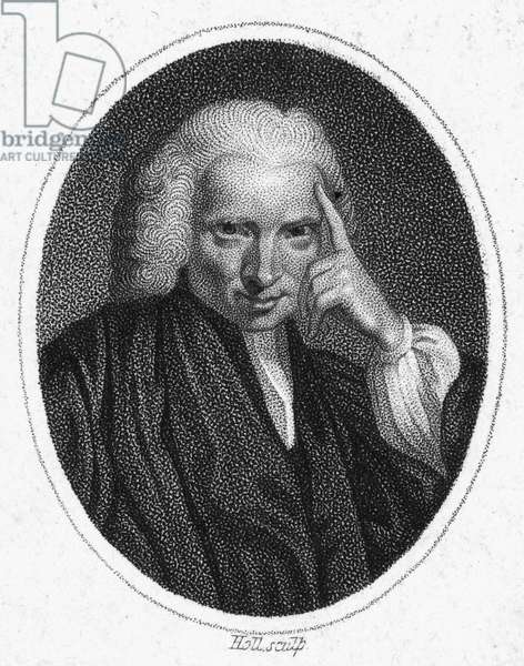 LAURENCE STERNE (1713-1768) British cleric and novelist. Stipple engraving, 1819.