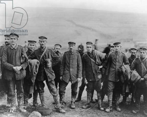 WWI: PRISONERS, c.1917 German prisoners of war. Photograph, 1917 or 1918.