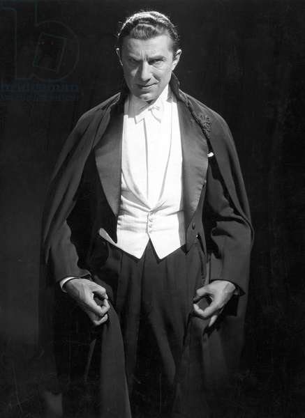 BELA LUGOSI AS DRACULA Bela Lugosi in the title-role of Tod Browning's 1931 film version of 'Dracula.'