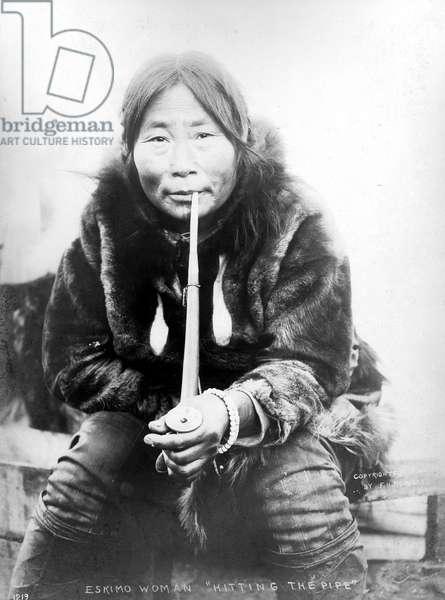 ESKIMO WOMAN IN ALASKA Photographed in 1904.
