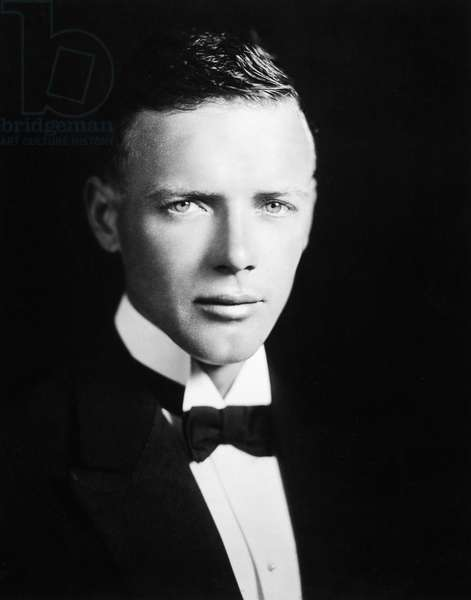 CHARLES A. LINDBERGH (1902-1974). American aviator. Photographed in 1927.