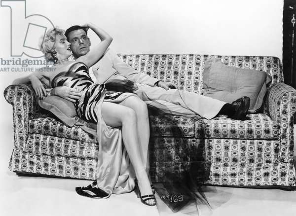 MARILYN MONROE (1926-1962) Marilyn Monroe and Tom Ewell in a promotional poster for 'The Seven Year Itch,' 1955.