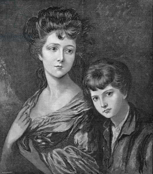 LINLEY CHILDREN, c.1768 Elizabeth Ann and Thomas Linley, children of composer Thomas Linley. Engraving, 1891, after a painting by Thomas Gainsborough, c.1768.