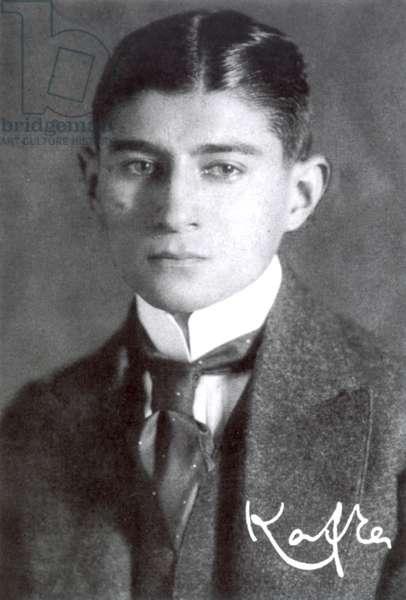 FRANZ KAFKA (1883-1924) Czech writer. Photographed c.1910.