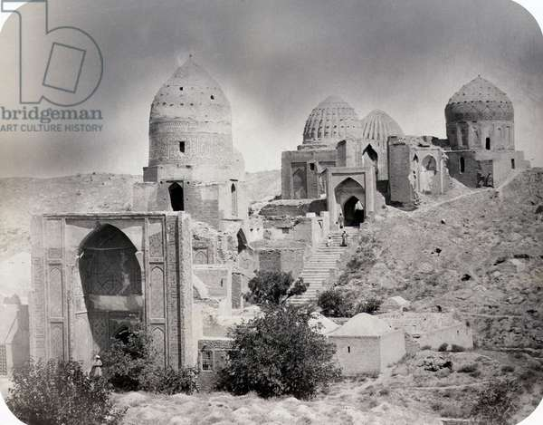 SAMARKAND: RUINS, c.1870 Ruins of the Tomb of Kassim Ibn Abbas (Sheikh Zinde) and other mausoleums. Photograph by N.V. Bogaevskii, c.1870.