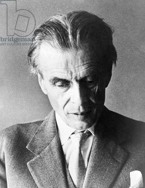 ALDOUS HUXLEY (1894-1963) English novelist and critic. Photograph, 1960.