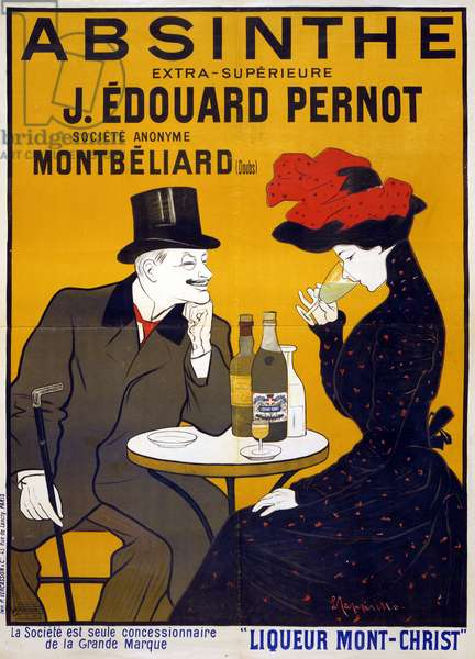 POSTER: ABSINTHE, c.1903 'Absinthe extra-supérieure J. Édouard Pernot.' Lithograph by Leonetto Cappiello, c.1903.