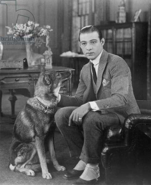 RUDOLPH VALENTINO (1895-1926). American (Italian-born) film actor.