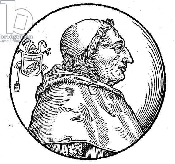 POPE INNOCENT VIII (1432-1492). Pope, 1484-92. Woodcut, Italian, 1592.