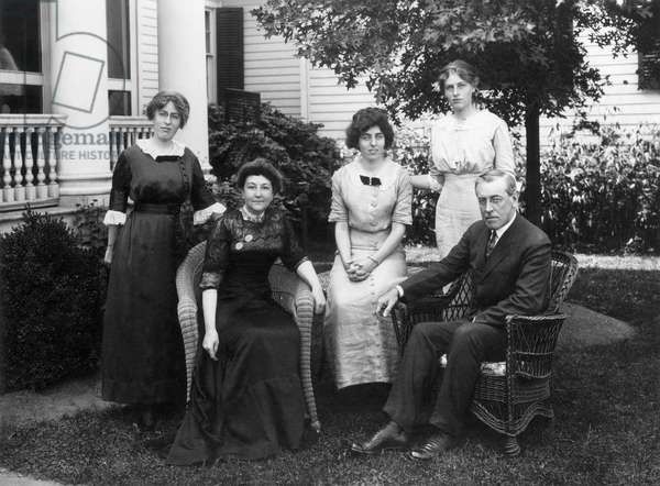 WOODROW WILSON FAMILY Left to right: Margaret, Mrs. Wilson, Eleanor, Jessie and Woodrow Wilson,