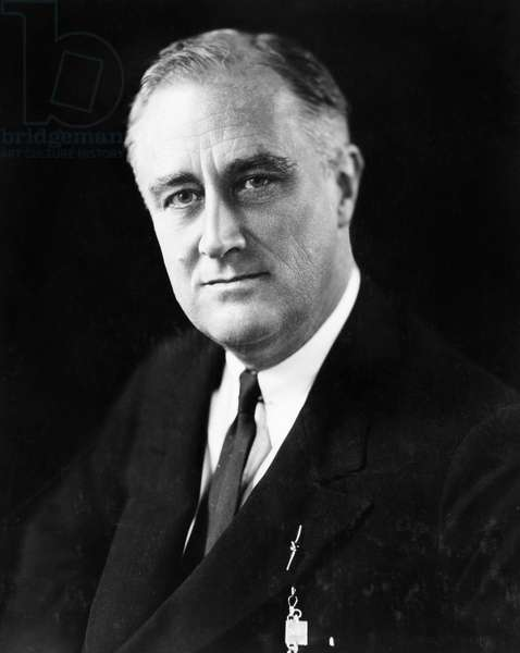 FRANKLIN DELANO ROOSEVELT (1882-1945). 32nd President of the United States. Photograph, c.1933.