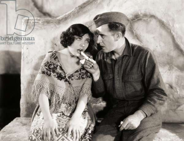SILENT STILL: CHEWING GUM 'The Big Parade,' 1925. Renee Adoree and John Gilbert.