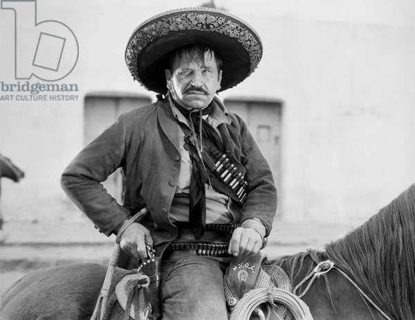 WALLACE BEERY (1885-1949) American actor. Beery in the title-role of 'Pancho Villa.'