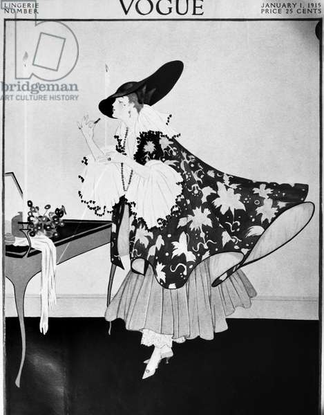 VOGUE MAGAZINE, 1915 Cover of the 1 January 1915 issue of 'Vogue' magazine.