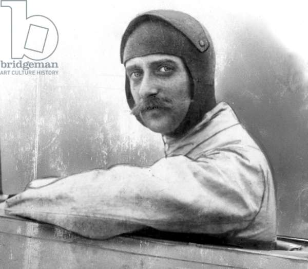 LOUIS BLERIOT (1872-1936) French engineer and aviator. Photographed at the controls of his monoplane, n.d.
