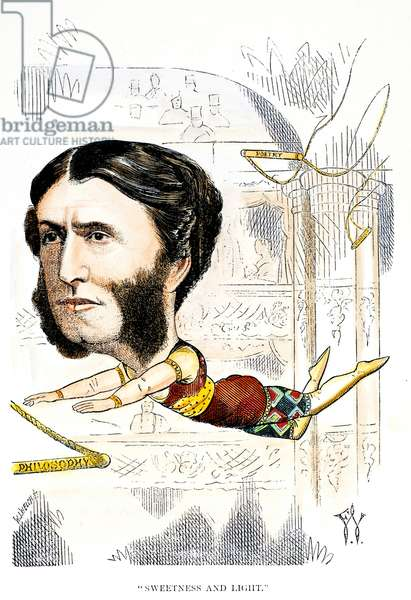 MATTHEW ARNOLD (1822-1888) English poet and critic. Caricature, 1871, by Frederick Waddy.