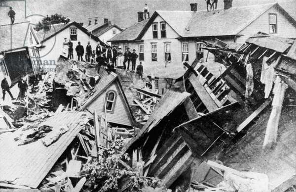 JOHNSTOWN FLOOD, 1889 Scene in Johnstown, Pennsylvania, after the flooding that destroyed the town on 31 May 1889.
