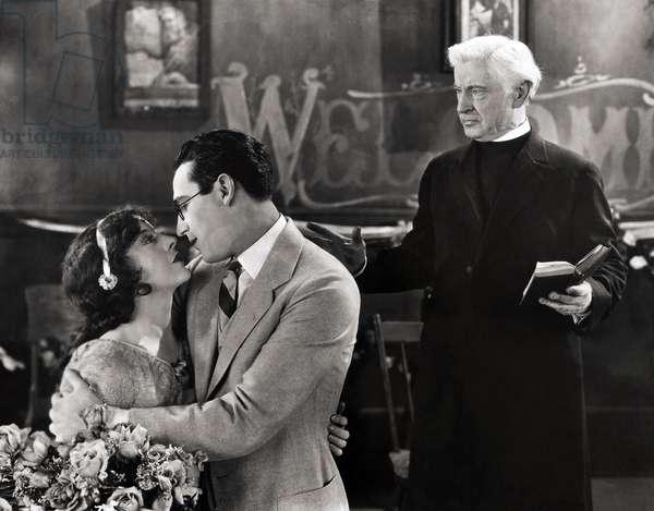 SILENT FILM STILL: WEDDING. American comedian Harold Lloyd.