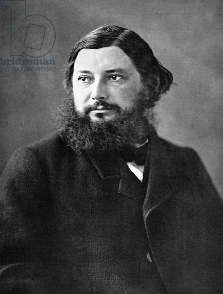 GUSTAVE COURBET (1819-1877) French painter. Photographed c.1856 by Nadar.