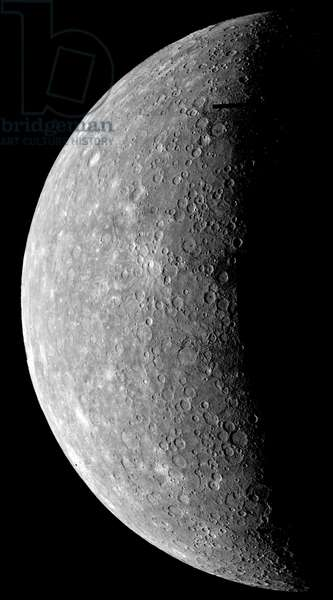 MARINER 10: MERCURY, 1974 View of Mercury. Photographed by the Mariner 10, 1974.