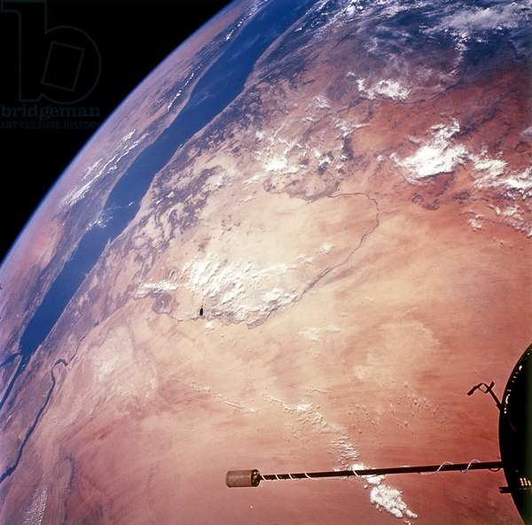 EARTH FROM SPACE, 1966 A view of Egypt, Sudan, Ethiopia and Saudi Arabia. Photographed from the Gemini XI, 1966.