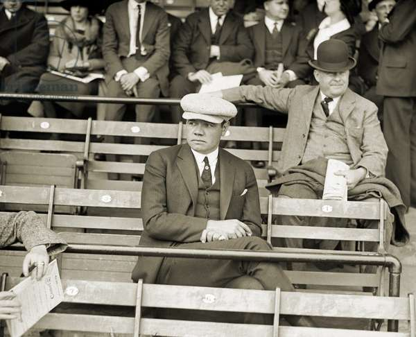 GEORGE H. RUTH (1895-1948) Known as Babe Ruth. American professional baseball player. Photographed in a stadium, c.1922.