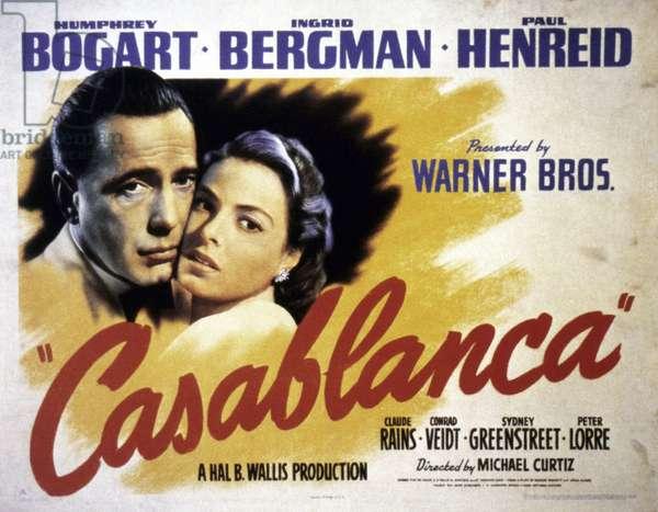 CASABLANCA FILM POSTER, 1942.