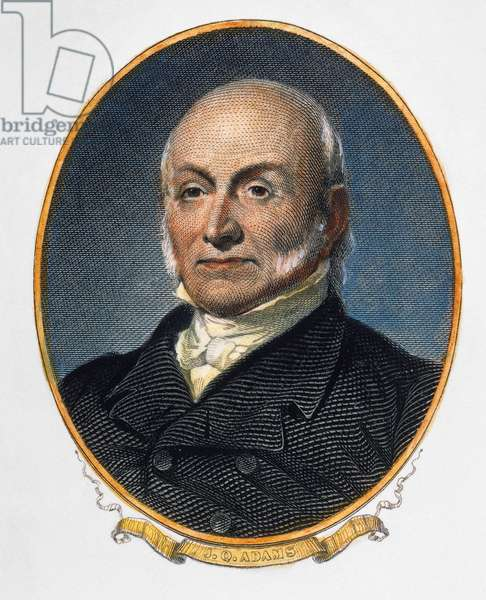 JOHN QUINCY ADAMS (1767-1848). 6th President of the United States. Engraving, 19th century.