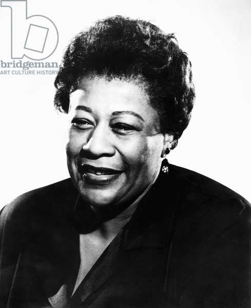 ELLA FITZGERALD (1917-1996) American singer. Photographed in 1960.
