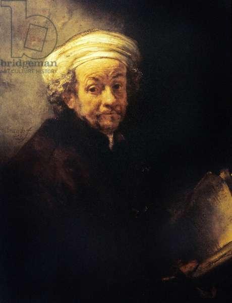 Rembrandt Self Portrait as the apostle St Paul, 1661 (oil on canvas)