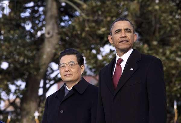HU AND OBAMA, 2011 President Hu Jintao of China and President Barack Obama in Washington, D.C. Photograph, 19 January 2011.