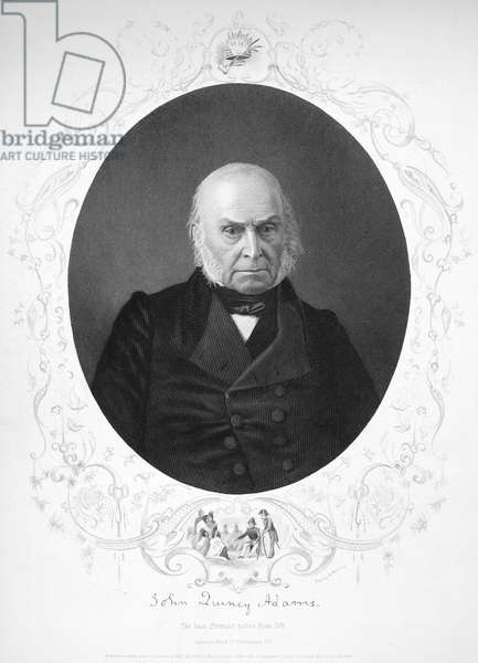 JOHN QUINCY ADAMS (1767-1848). Sixth President of the United States. Steel engraving, 1857.