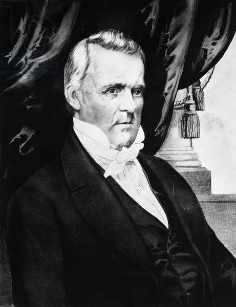 JAMES BUCHANAN (1791-1968) Fifteenth President of the United States. Lithograph campaign poster, 1856, by Nathaniel Currier.