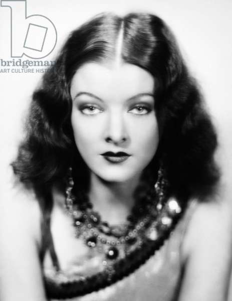 MYRNA LOY (1905-1993) American film actress.