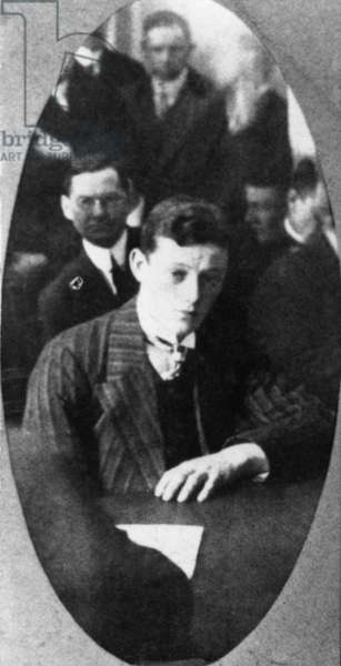 "TITANIC: HAROLD COTTAM The wireless operator who received the distress signals from the ""Titanic"" while aboard the ""Carpathia."""