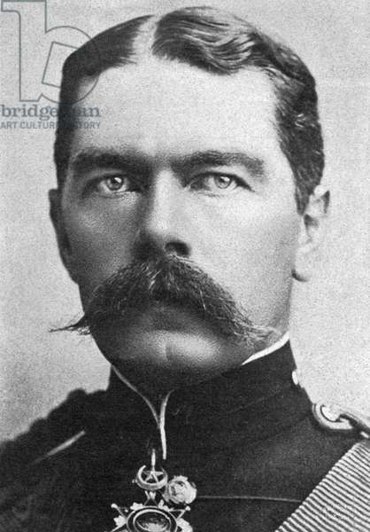 HORATIO HERBERT KITCHENER (1850-1916). First Earl Kitchener of Khartoum and of Broome. British soldier. Photograph, 1900.