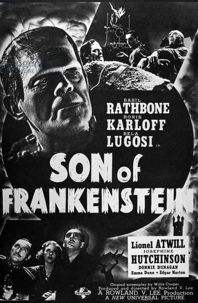 SON OF FRANKENSTEIN, 1939 The Son of Frankenstein film poster, 1939.