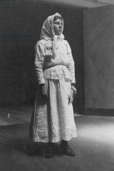 IMMIGRANTS: ELLIS ISLAND An immigrant woman photographed c.1900.