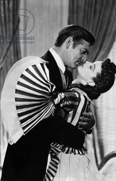 GONE WITH THE WIND, 1939 Vivien Leigh and Clark Gable in a scene from the film, 'Gone With The Wind,' 1939.