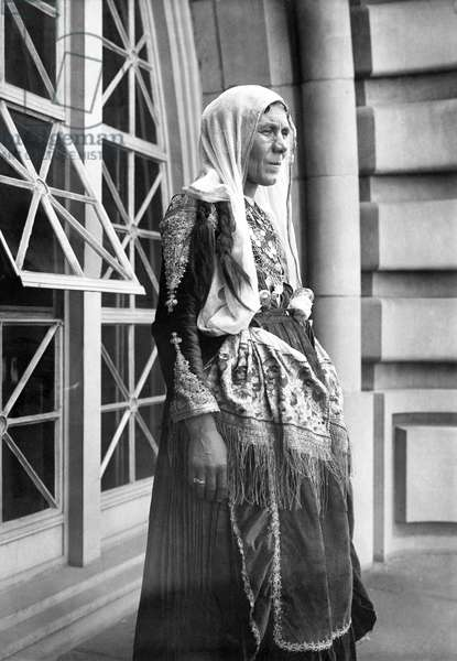 ELLIS ISLAND: GYPSY WOMAN A Gypsy woman photographed after her arrival at Ellis Island, early 20th century.