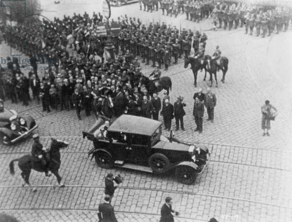 ALEXANDER I ASSASSINATION The assassination of King Alexander I of Yugoslavia at Marseilles, France, 9 October 1934: contemporary photograph.