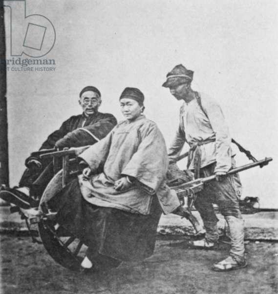 SHANGHAI WHEEL-BARROW Chinese mode of transportation, Shanghai, 1870s.