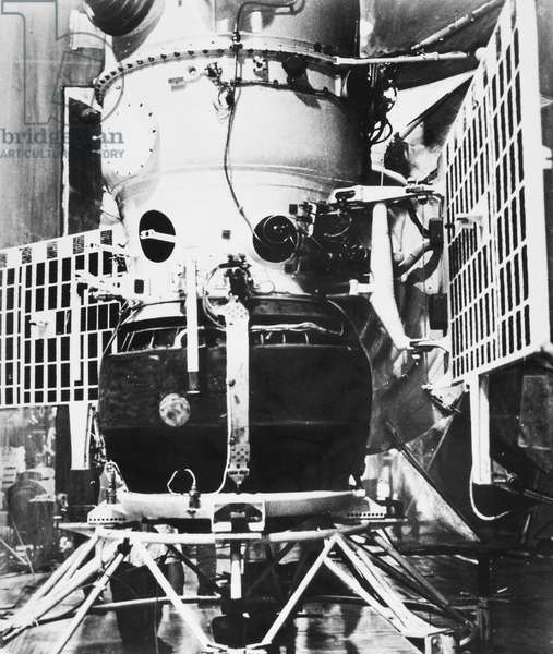 SPACE: VENUS 4, 1967 Venus 4, the Soviet spacecraft which landed instruments on the surface of the planet Venus, 1967.