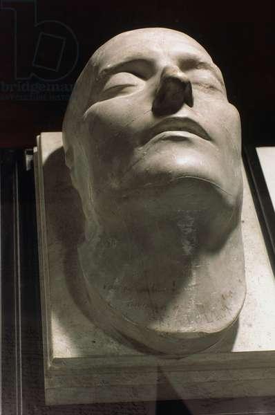 NAPOLEON DEATH MASK The death mask of Napoleon Bonaparte (1769-1821).