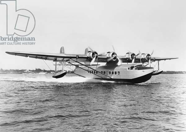 SIKORSKY FLYING BOAT, 1934 A Sikorsky S-42 Flying Boat operated by Pan American Airways. Photograph, 1934.