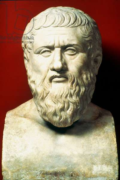 PLATO (c427-c347 B.C.) Greek philosopher. Roman marble copy of a lost Greek original of the 4th century B.C.