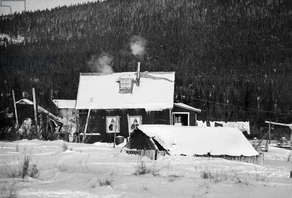 ALASKA: ELIM, c.1970 A home in Elim, Alaska. Photograph, c.1970.
